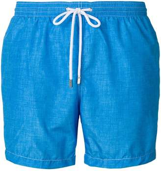 Barba contrast stitch swim shorts