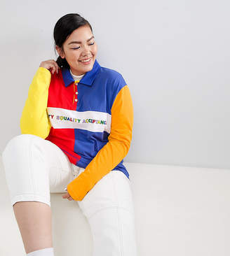 Asos DESIGN x glaad& Curve rugby shirt