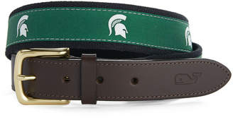 Vineyard Vines Michigan State University Canvas Club Belt