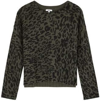 Rails Joanna Leopard-print Wool-blend Jumper