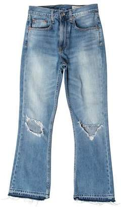 Rag & Bone Mid-Rise Distressed Jeans
