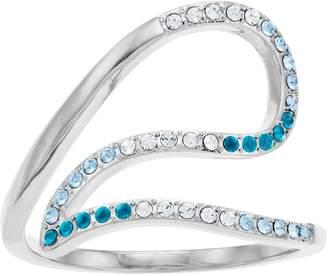 Brilliance+ Brilliance Ombre Swirl Ring with Swarovski Crystals