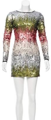 Elizabeth and James Sequin Mini Dress