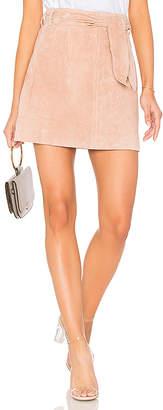 Blank NYC BLANKNYC Tie Front Mini Skirt