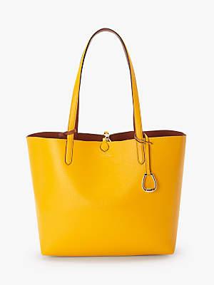 Ralph Lauren Ralph Reversible Medium Tote Bag, Sunflower/Tan