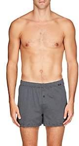 Hanro Men's Striped Cotton Boxer Shorts - Gray