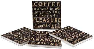 Thirstystone Coffee Quote 4-Pc. Coasters Set