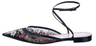 Christian Dior Embroidered Mesh Mules Black Embroidered Mesh Mules