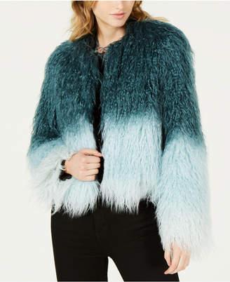 Bar III Ombre Faux-Fur Jacket