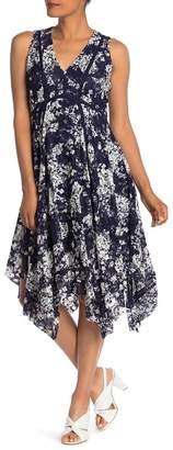 Taylor Printed Lace Hanky Hem Dress