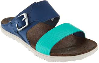 Merrell Leather Slide Sandals w/ Buckle - Around Town