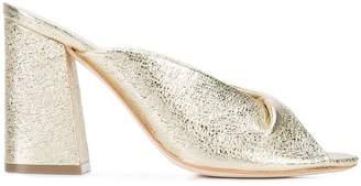 Loeffler Randall crinkle high-heeled mules