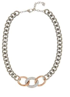 Swarovski Bound Crystal Detail Chain Necklace