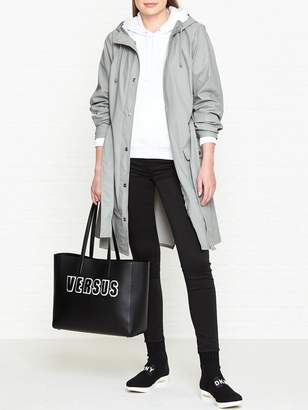 Rains Curve Trench Coat - Grey