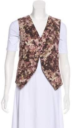 Ann Demeulemeester Floral Print Wool Vest