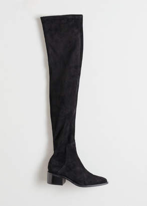 And other stories Suede Thigh High Boots