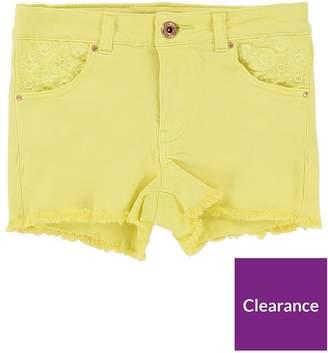 Billieblush Girls Embroidered Denim Shorts