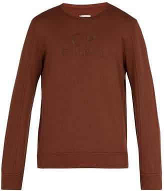 C.P. Company Logo embroidered crew neck sweatshirt