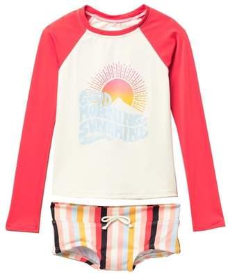 Billabong Come On Two-Piece Rashguard Swimsuit (Little Girls & Big Girls)