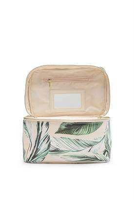 Country Road Leaf Print Large Cosmetic Case