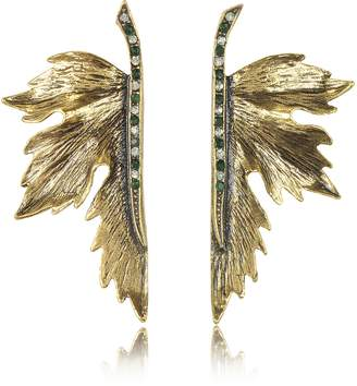 Alcozer & J Nymph Goldtone Brass Earrings