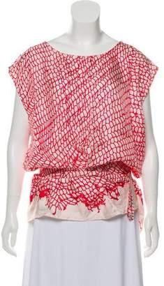 Ann Demeulemeester Silk Printed Top