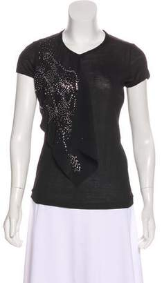 Balenciaga Embellished Short Sleeve Top