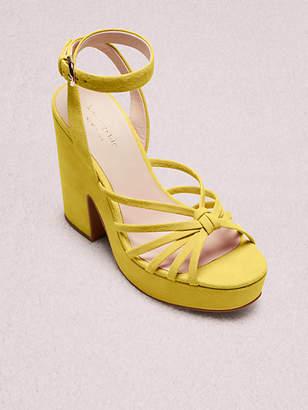Kate Spade Glenn Platform Sandals, Vibrant Canary - Size 5