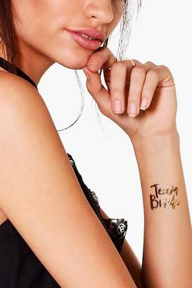 boohoo Team Bride Metallic Tattoo Set