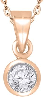 KATARINA Diamond Solitaire Pendant with Chain in 10K Yellow Gold (1/6 cttw) (-Color, I2/I3-Clarity)