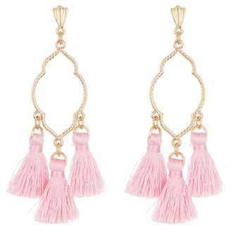 Ettika Open Shape Tassel Earrings