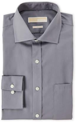 MICHAEL Michael Kors Gunmetal Solid Non-Iron Dress Shirt