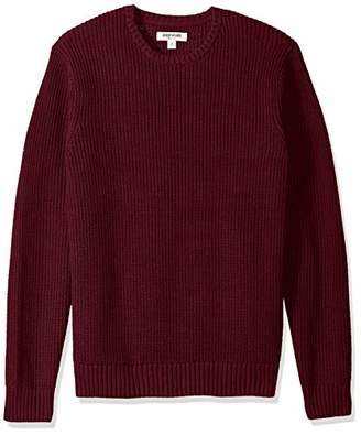 Goodthreads Men's Standard Soft Cotton Rib Stitch Crewneck Sweater