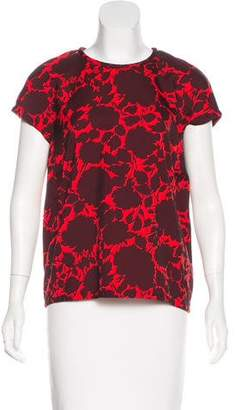 Marc by Marc Jacobs Floral Short Sleeve Top