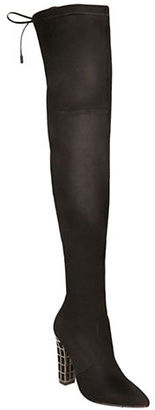 B Brian Atwood Marney Microsuede Over-The-Knee Boots $300 thestylecure.com