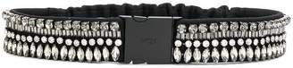 No.21 crystal-embellished belt