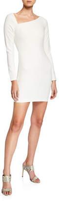 LIKELY Romeo Asymmetrical Long-Sleeve Cocktail Dress