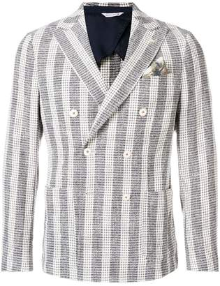 Manuel Ritz striped button blazer