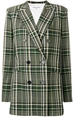 Sonia Rykiel plaid double breasted jacket