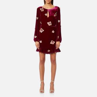 For Love & Lemons Women's Luxe Velvet Mini Dress