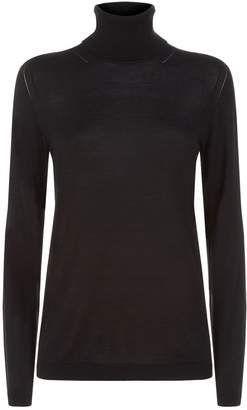 Burberry Silk-Cashmere Roll Neck Sweater