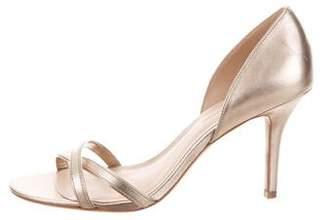 AERIN Metallic Crossover Sandals