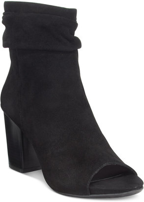 Kenneth Cole Reaction Frida Cool Slouchy Peep Toe Ankle Booties $119 thestylecure.com