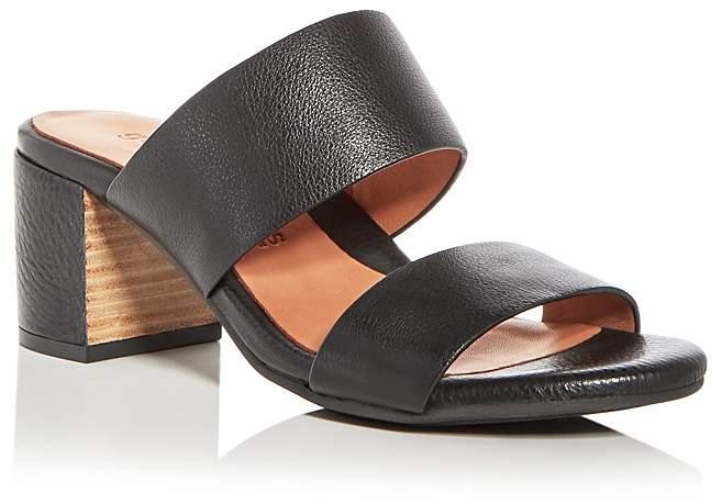 Gentle Souls Women's Cherie Leather Block Heel Slide Sandals - 100% Exclusive