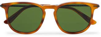 Bottega Veneta Square-Frame Tortoiseshell Matte-Acetate And Gunmetal-Tone Sunglasses