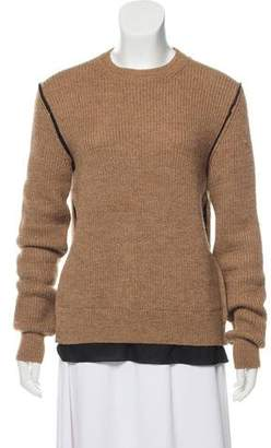 Fendi Rib Knit Alpaca Sweater