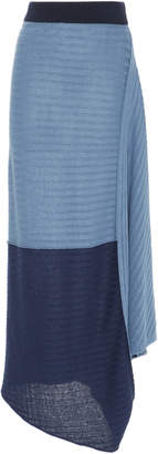 J.W.Anderson Infinity Gathered Linen Maxi Skirt