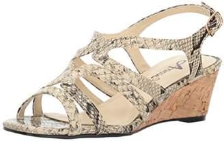 Annie Shoes Women's Aspen Espadrille Wedge Sandal