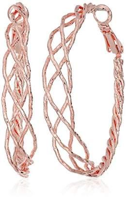 GUESS Braided Hoop Earrings