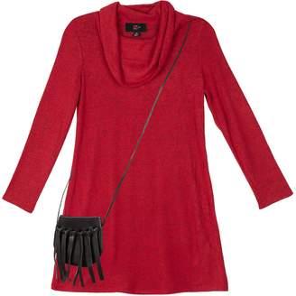 Amy Byer Iz Girls 7-16 IZ Long Sleeve A-Line Dress with Purse